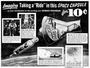 ride in this space capsule